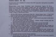 Surat Edaran Pengasuh Pesantren Raudlatul Ulum Guyangan