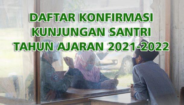 Daftar Konfirmasi Kunjungan Santri Tahun Ajaran 2021-2022